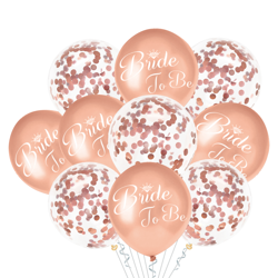 A set of balloons rose gold for Bachelorette, 14 El.