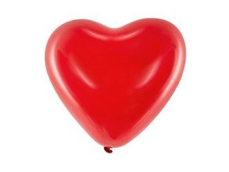 Balloons Heart, Pastel red latex 41 cm (1 op. / 6 pcs.)