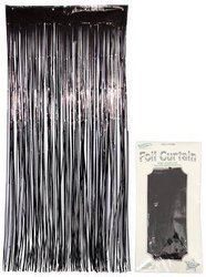Prom black curtain 90 x 240 cm