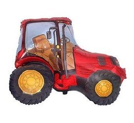 The foil balloon - Tractor 60 cm Red